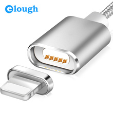 Elough E03 Magnetic Charger Nylon Braided Magnetic USB Cable For iPhone 7 6 5s 5 iPad 4 2 Mobile Phone Fast Charge Magnet Cable