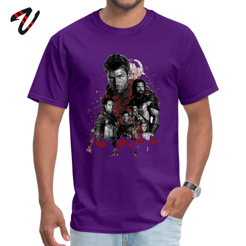 Camisa Funny April FOOL DAY 100% Cotton Fabric Crew Neck Mens Tops & Tees Tops Tees Special Short Sleeve Top T-shirts Spartacus and his rebel leaders 3084 purple