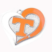 Tennessee Vols Volunteers College sports team logo swirl heart charm Sport Jewelry Fans collection(China)