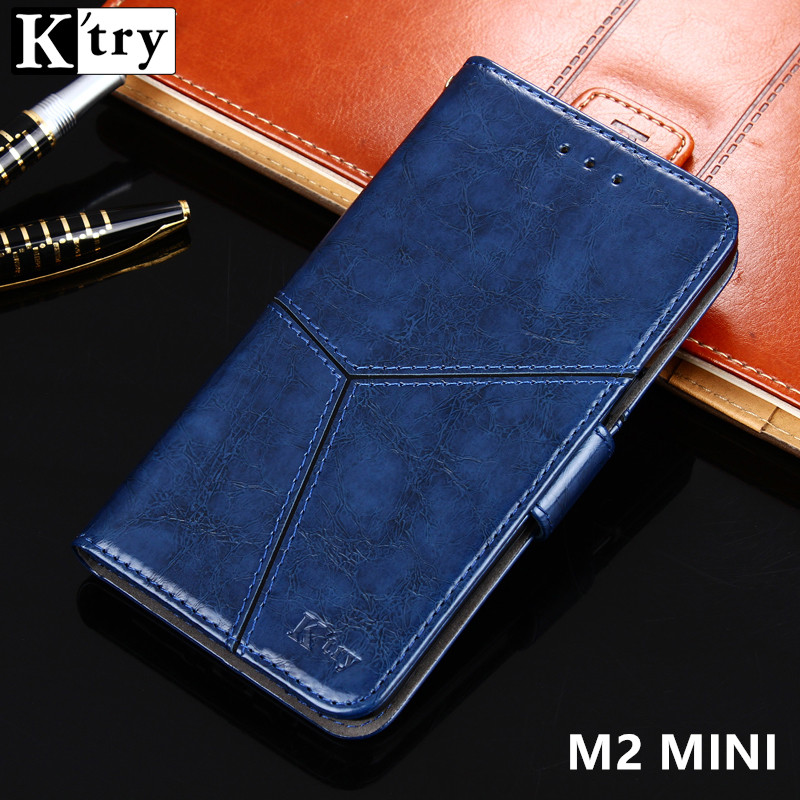 K'try Meizu M2 mini Case Cover Luxury Leather Wallet Case Meizu M2 mini M2mini 5.0'' Phone Cover Flip Style Stand