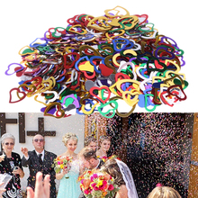 3200PCS Multicolor Love Heart Shape Confetti Wedding Shimmer Table Scatters Valentine Birthday Party Decorative