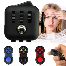 Fidget Cube Mini Desk Toys Fun Figet Cubes Cubic Anxiety and Anti Stress oy ADHD Adults Reliever Click Glide Spin Children Gift