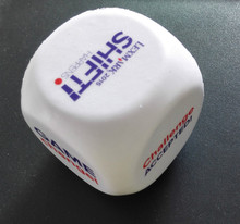 OEM 5.5cm pu foam material pu dice stress ball,dice anti stress ball,promotion gifts,in printing your logo 50pcs/lot(China)