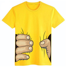 2016 New 3D Print Big Hand Grab You Baby Girls Boys T-Shirts Short Sleeve Cotton Kids T-Shirts Child Clothing Tops Infant Tee