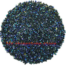 Hotfix rhinestone,1440pcs/bag,SS5(1.6mm) B Grade,Dark blue AB glass Crystal Rhinestone Garment Accessories for dress,clothes,hat(China)