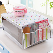 New Arrival Waterproof Microwave Oven Covers With Two Side Pocket PEVA Material(China)