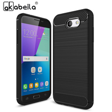 AKABEILA Cell Phone Skin Case Cover Bags For Samsung Galaxy J3 Prime Case Armor Carbon Fiber Phone Case For Samsung J3 2017(China)