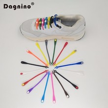 DAGNINO Round Head Women Men Athletic Running No Tie Shoelaces 12Pc/Set Unisex Elastic Silicone Shoe Lace All Sneakers Fit Strap(China)