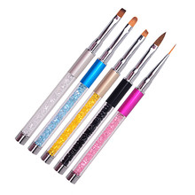 1PC Airbrush Nail Brush UV Gel Nail Art Brushes Sculpture Pen DIY Nail Tools Dotting Paint Pen Set for Salon Manicure
