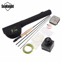 SeaKnight MAXWAY Classic 3/4# Fly Rod Fly Reel Fly Fishing Rod Reel Line Lure Box Bag Backing Line Tippet Set Fishing Rod Combo(China)