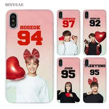 BINYEAE BTS Bangtan Number colorful Clear Cell Phone Case Cover for Apple iPhone X 6 6s 7 8 Plus 4 4s 5 5s SE 5c(China)