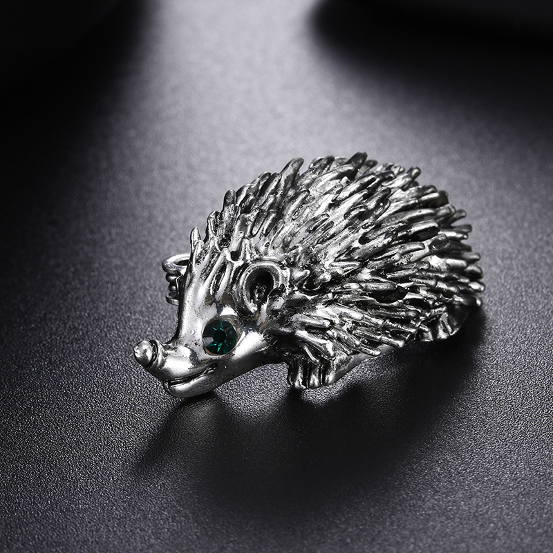 1PCS Cute Hedgehog Animal Brooch Pins Jewelry Pin Brooch Wedding Bridal Bouquet Women Jewelry Men