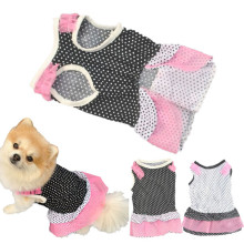 Puppy Dog Princess Dress Dog Dot pet dog clothes dress dog jaket winter warm hondenkleding(China)