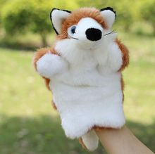 Factory spot small wholesale animal hand puppet fox dolls big story telling story of children's toys can be customized(China)