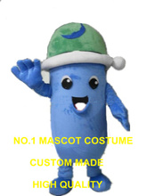blue medicine pill mascot costume for adult factory wholesale custom advertising cartoon walking costumes carnival fancy 2938(China)