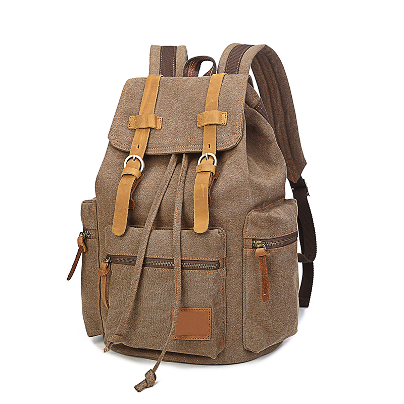 High Quality New Male Canvas Backpack High Capacity Travel Bag Laptop backpack Men School Bag Rucksack mochila<br>