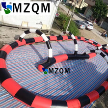 MZQM 12x8 m Commercial Grade inflatable Sport Toy Inflatable Air Track Go Kart Race Track Inflatable Zorb Ball Race Track(China)