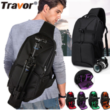 Travor Multi Function Video Photo Digital Camera Shoulders Padded Backpack Bag Case Waterproof Shockproof Small Bags(China)