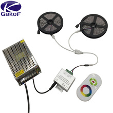 Full set RGB 10m 15m 20m led strip light SMD 5050 Non Waterproof 600 Leds+18A RF Touch Remote Controller+DC 12V 10A power supply