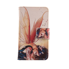 ABCTen Painting PU Leather Skin Mobile Phone Cover Protect Accessory Wallet Pouch Book Design Case For BlackBerry Z30 In Stock