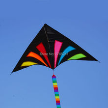 70 inch multicolor Delta Kite outdoor sports for kids Children's toys breeze with tail with flying line