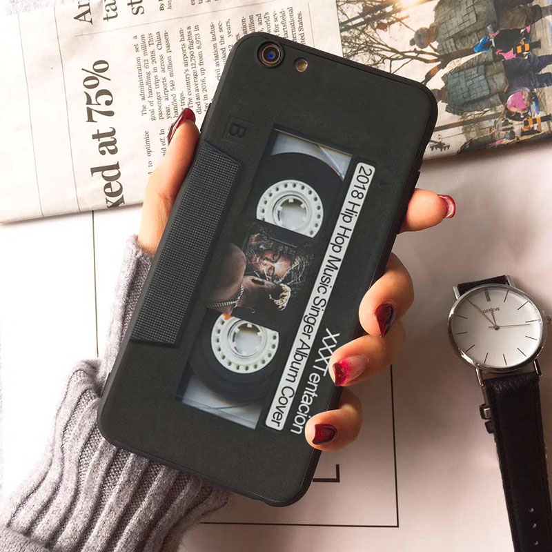 XXXTentacion Rapper 2018 Hip Hop Music Singer Album Cover design black cell Case for iPhone 8 7 6 6S Plus X 5 5S SE 5C case (2)