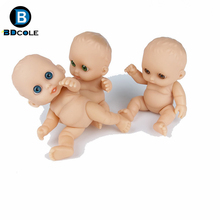 1 piece Randomly pick 13cm Mini Silicone 3D eyes Reborn Baby Doll Lifelike different expression Palm doll made by BBDCOLE(China)