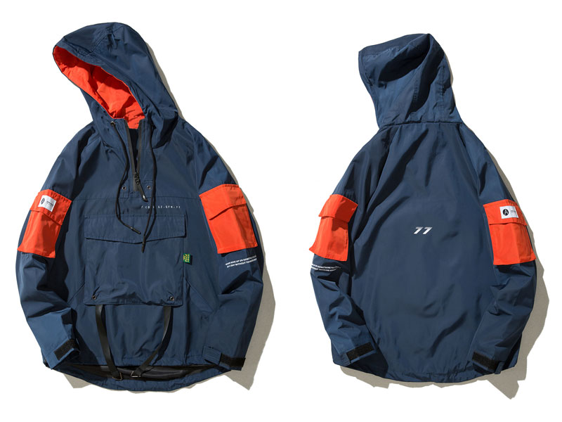 Front Pocket Pullover Jackets 2