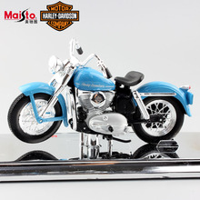 1:18 scale Maisto miniature child Harley 1952 K Model Diecast model motorcycle metal toys cars for boy blue auto motor with base