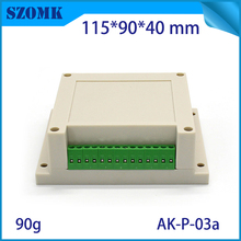 1 piece, 115*90*40mm szomk plastic enclosure electronics plastic case din rail box with connectors hot sales plastic housing box
