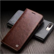Buy QIALINO Case iPhone 8 flip Genuine Leather Wallet Case iphone 8 plus luxury Ultra Slim Flip holster for $26.32 in AliExpress store