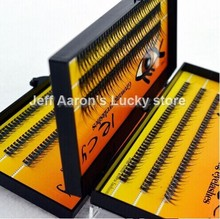 3 trays 120 Natural Long Black Individual False Eyelashes Extension Kit Makeup Tool ZY6B(China)