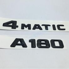 2Pcs/set A180 4Matic Car Rear Trunk Words Emblem Badge Sticker Mercedes Benz A-Class W176 AMG - RZR Accessories store