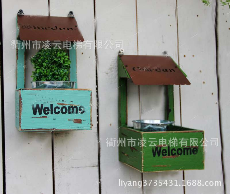 American country garden home small decorative wood wall flower wall hangings ZAKKA<br>