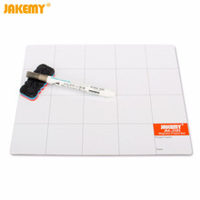 JAKEMY JM-Z09 Magnetic Project Mat Screw Work Pad with Marker Pen Eraser for Cell Phone Laptop Tablet Repair Tools 25x20cm