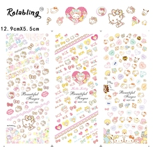 2017 Very Popular Lovely Girls Cartoon Character Series Nail Sticker Fingernail Stickers Nail Accessories And Tools