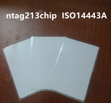 5000pcs/lot 13.56mhz RFID Card ntag203 NFC Blank smart card ntag213