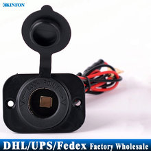 DHL/Fedex/UPS 50pcs/lot 12v Waterproof Accessory Power Socket Car Motorcycle Cigarette Lighter Plug C827B(China)