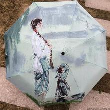 Artistic Painting Umbrella Creative Chinese Painting Classical Umbrella Painted Parasol for Woman(China)