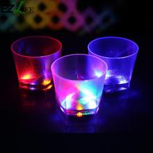 Colorful Flashing Led Light cup Magic Led Champagne Glass Flash Wine Beer Bar Led Champagne Glass Cup for Party Wedding CRM8652(China)