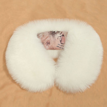 Naiveroo Winter Warm Natural Fur Collar Womens Scarf Faux Fur Coat Scarves Collar Luxury Raccoon Fur Neck Warmer Collar