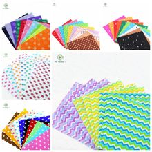 Craft felt felt Fabric Print 56 Designs 6 pack combination polyester cloth diy handmade sewing home decor material 15x15cm(China)