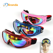 Children's ski goggles snow ski goggles 6 colors sunglasses windproof goggle lunette de ski glasses outdoor windproof(China)