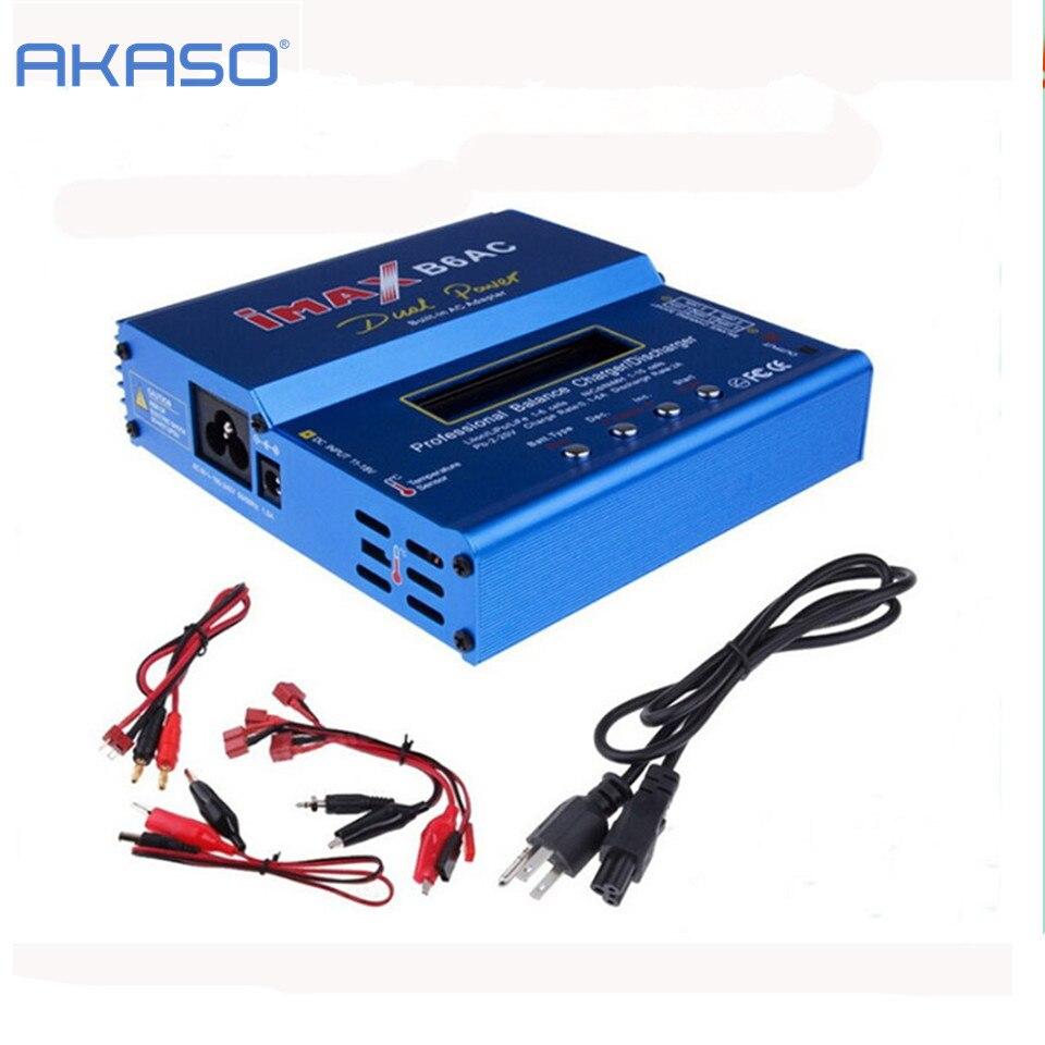 AKASO New iMAX B6 AC 80W B6AC Lipo NiMH 3S/4S/5S RC Battery Balance Charger + EU/US plug power supply wire<br>