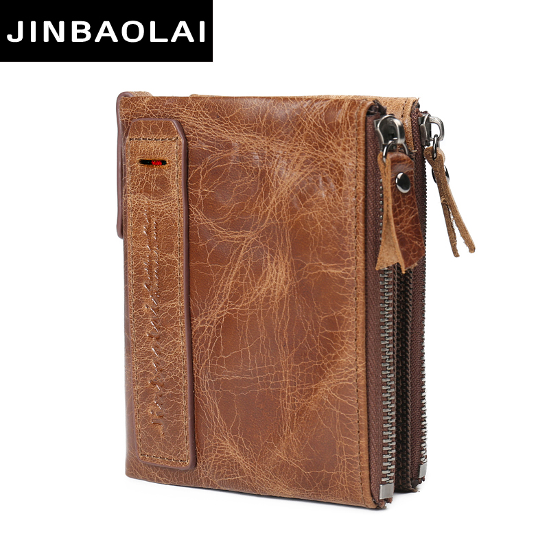 Dropshipping Luxury Brand Genuine Leather Men Wallets Coin Pocket Zipper Mens Leather Wallets with Coin Purse portfolio cartera<br>