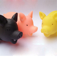 Pet Dog Cat Puppy Sound Candy Colored Squeaky Rubber Screaming Pig Chewing Toys Piggy Pet Toy Dog Accessories