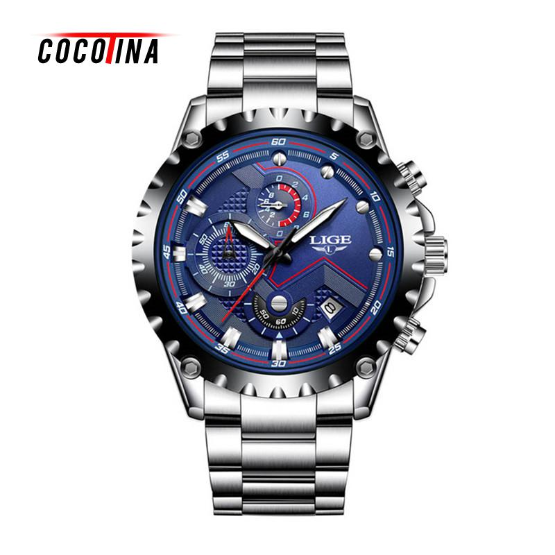 COCOTINA Relogio Masculino Mens Watches Luxury Alloy Business Gifts Quartz Watch Casual Waterproof Sports Watches LSB01374<br>