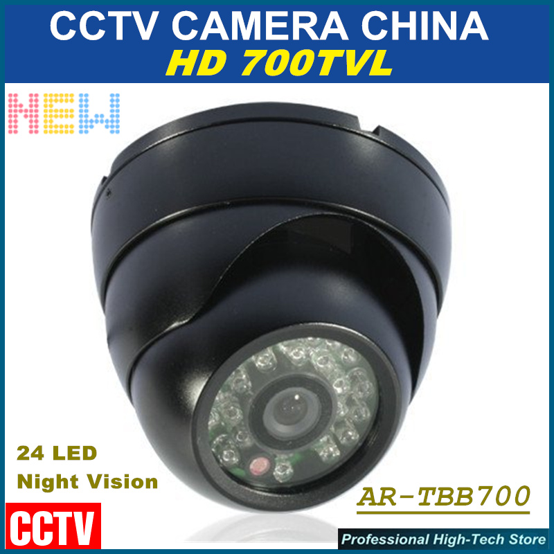 Free shipping 2017 NEW 24 LED IR Night Vision HD 700TVL Security Camera CCD IR Outdoor/Indoor Waterproof  Surveillance Dome Cam<br><br>Aliexpress