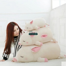 Dorimytrader Lovely Pop 100cm Giant Soft Lying Animal Pig Plush Pillow 39inches Stuffed Cartoon Pigs Doll Toy Kids Gift DY61568
