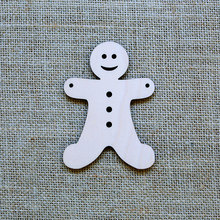 Wooden tag  GINGERBREAD MEN Christmas Ornament